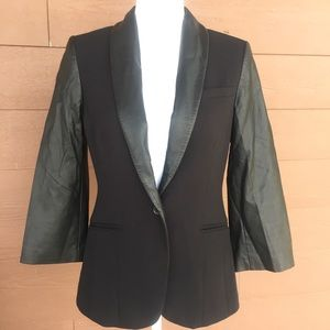 The Limited black black faux leather trim sz small